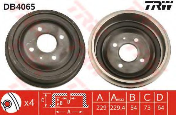 Барабан тормозной TRW DB4065