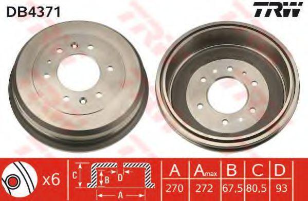 Барабан тормозной TRW DB4371