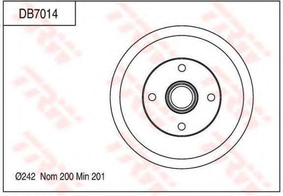 Тормозной барабан TRW DB7014