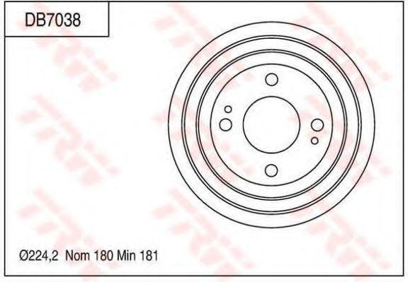 Тормозной барабан TRW DB7038