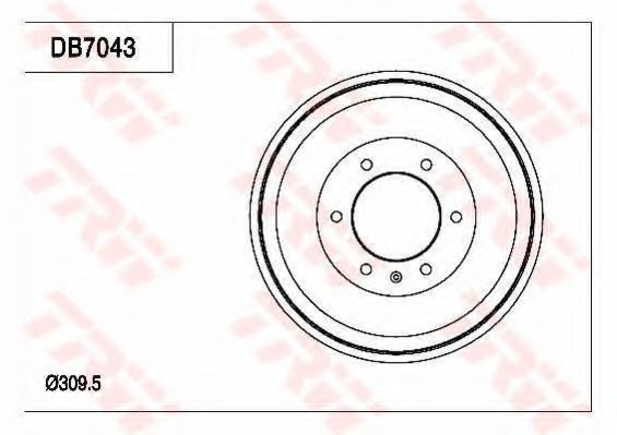 Тормозной барабан TRW DB7043