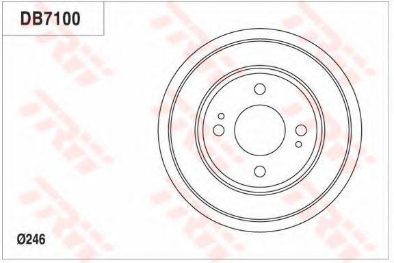 Тормозной барабан TRW DB7100