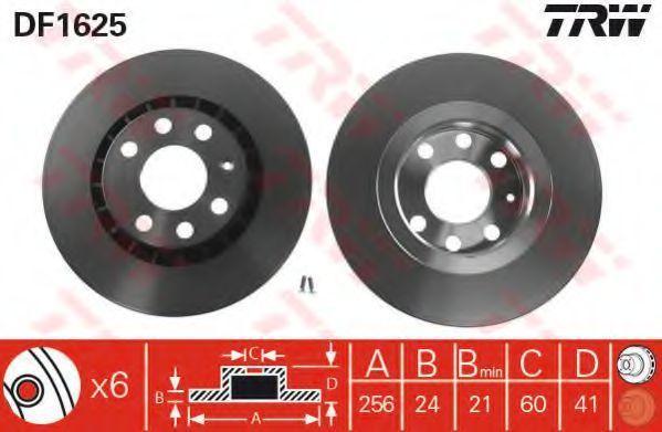 Диск тормозной TRW DF1625