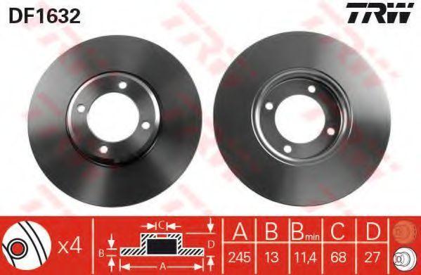 Тормозной диск TRW DF1632