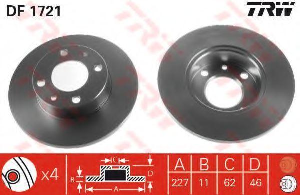 Диск тормозной TRW DF1721