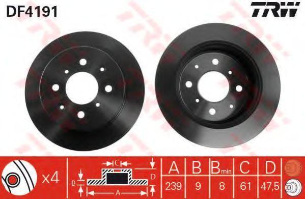 Диск тормозной TRW DF4191