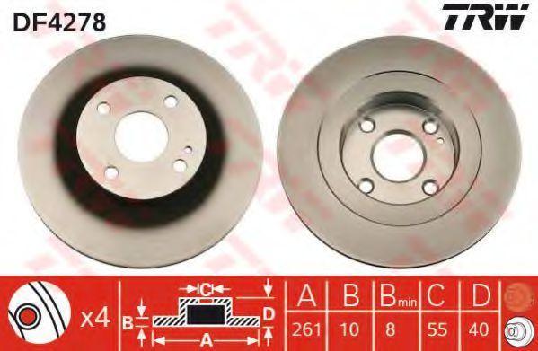 Диск тормозной TRW DF4278