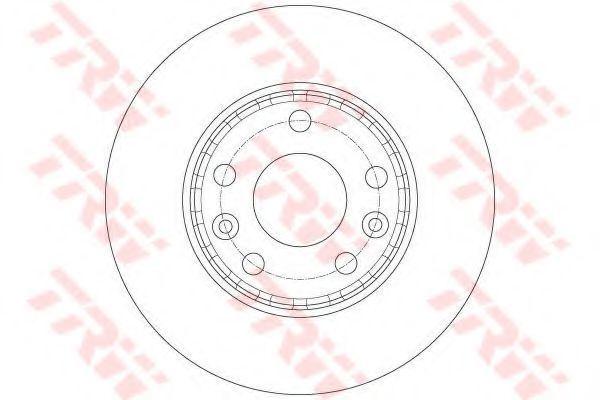 Изображение Диск тормозной TRW DF6072: описание