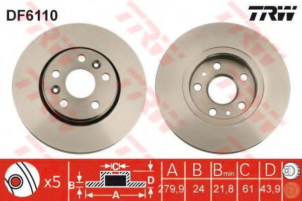 Диск тормозной TRW DF6110
