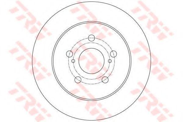 Диск тормозной TRW DF6145