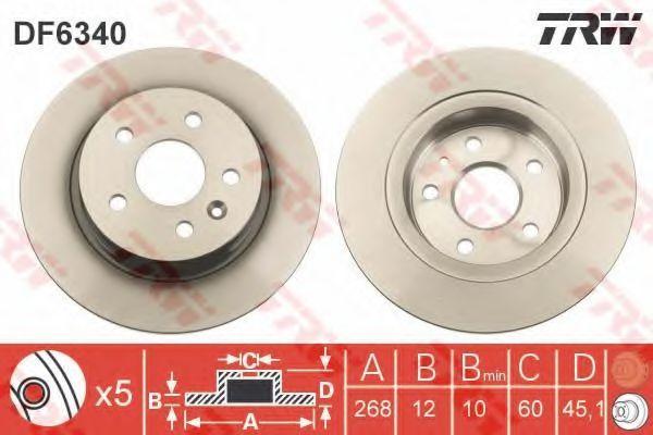 Диск тормозной TRW DF6340