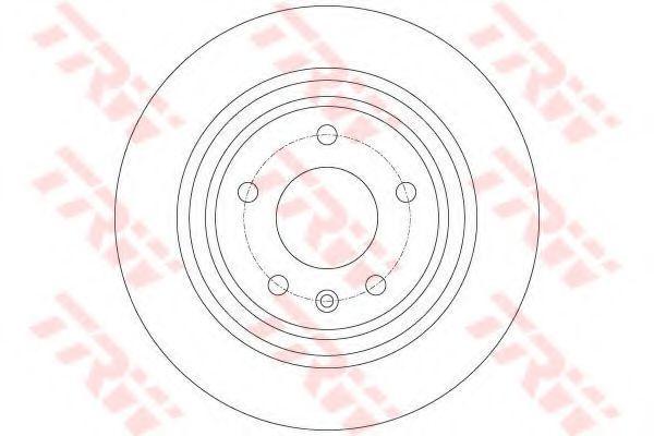 Диск тормозной TRW DF6363