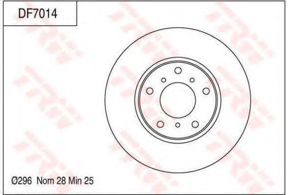 Тормозной диск TRW DF7014