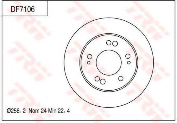 Тормозной диск TRW DF7106