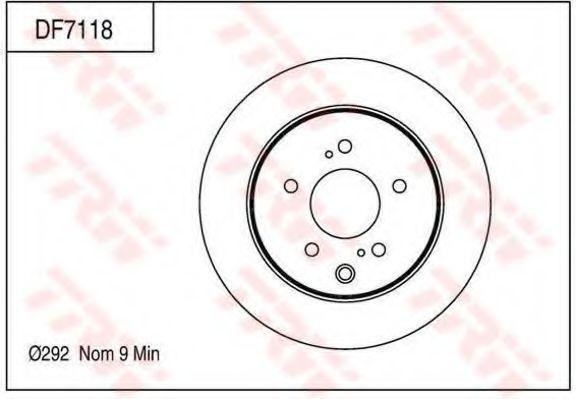 Тормозной диск TRW DF7118