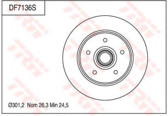 Тормозной диск TRW DF7136S