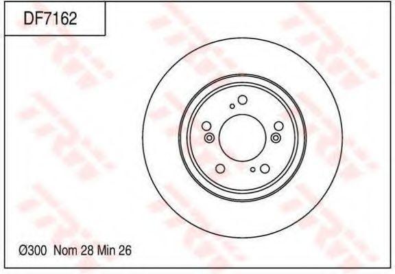 Тормозной диск TRW DF7162