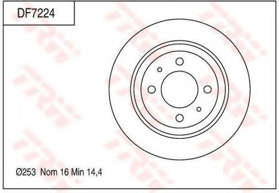 Тормозной диск TRW DF7224