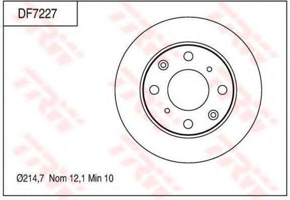 Тормозной диск TRW DF7227