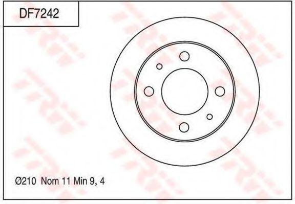 Тормозной диск TRW DF7242
