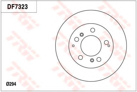 Тормозной диск TRW DF7323