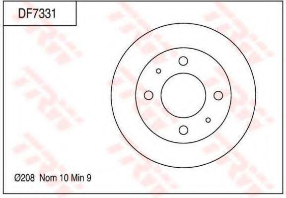 Тормозной диск TRW DF7331