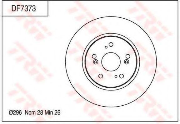 Тормозной диск TRW DF7373