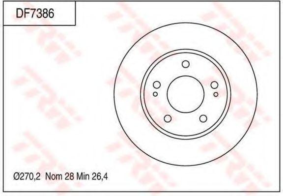 Тормозной диск TRW DF7386