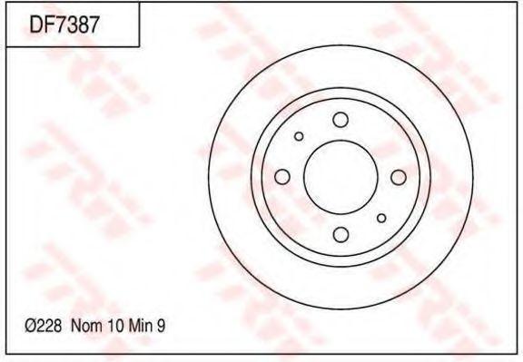 Тормозной диск TRW DF7387