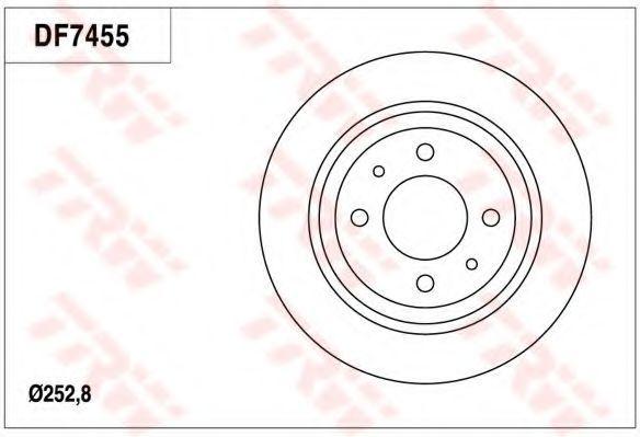 Тормозной диск TRW DF7455