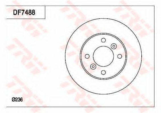 Тормозной диск TRW DF7488