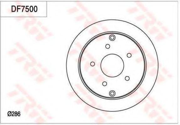 Тормозной диск TRW DF7500