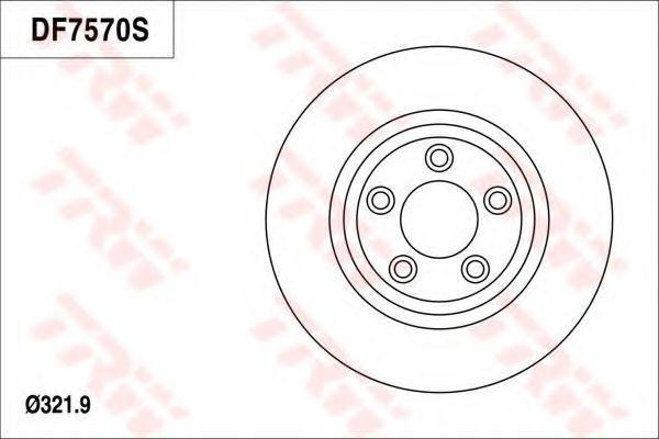 Тормозной диск TRW DF7570