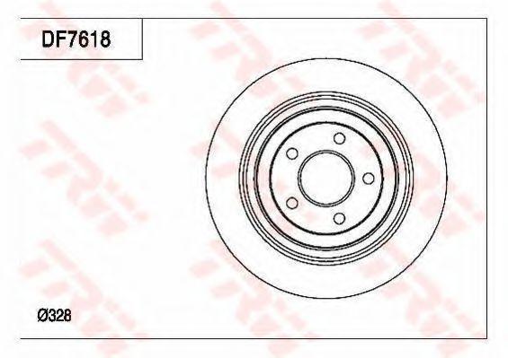 Тормозной диск TRW DF7618