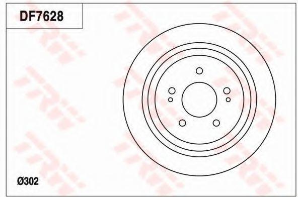 Тормозной диск TRW DF7628