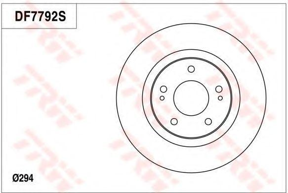 Тормозной диск TRW DF7792