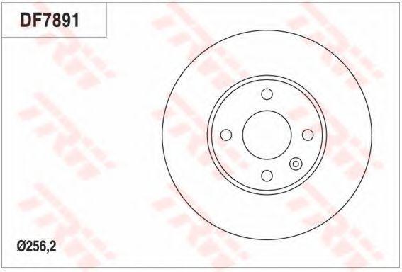 Тормозной диск TRW DF7891