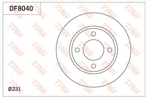 Тормозной диск TRW DF8040