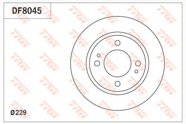 Тормозной диск TRW DF8045