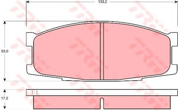 Колодки тормозные TRW GDB1022
