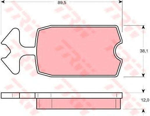 Колодки тормозные TRW GDB 127