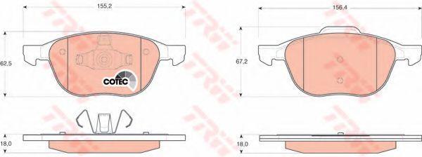 Колодки тормозные передние TRW GDB1583