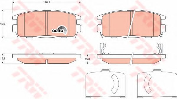 Колодки тормозные TRW GDB1716