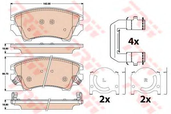 Колодки тормозные передние TRW GDB1783