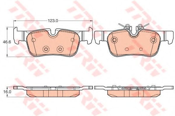 Колодки тормозные TRW GDB2063