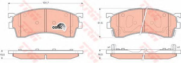 Колодки тормозные передние TRW GDB3209