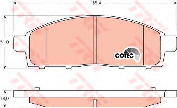 Колодки тормозные передние TRW GDB3435