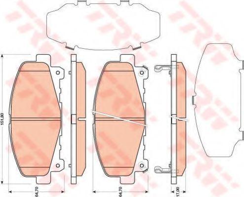 Колодки тормозные передние TRW GDB3477