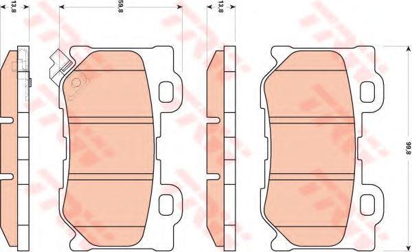 Колодки тормозные TRW GDB3515  - купить со скидкой