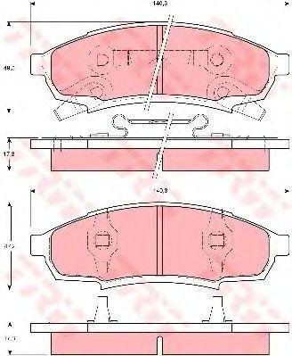 Колодки тормозные TRW GDB4014